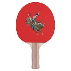 Bull Riding Ping Pong Paddle