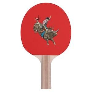 Bull Riding Ping Pong Paddle