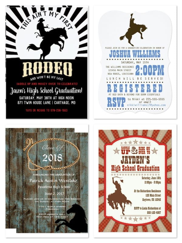 Rodeo Graduation Party Invitations